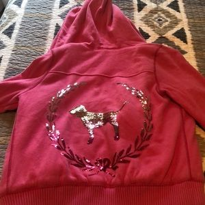 PINK Sherpa Jacket with sequins